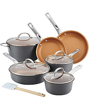 Ayesha Curry Home Collection Cookware Hard Anodized 11-Piece Set, , large
