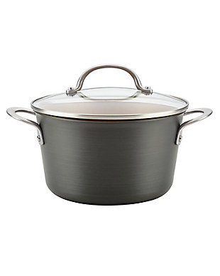 Ayesha Curry Home Collection Cookware Hard Anodized 4.5 Qt. Covered Saucepot, , large