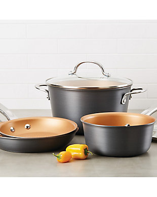 """Ayesha Curry Home Collection Cookware Hard Anodized 9.75"""" Open Chef Pan, , rollover"""
