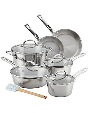 Ayesha Curry Home Collection Cookware Stainless Steel 11-Piece Cookware Set, , large