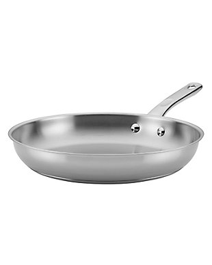 """Ayesha Curry Home Collection Cookware Stainless Steel 12.5"""" Open Skillet, , large"""