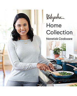 """Ayesha Curry Home Collection Cookware Twilight Teal 11"""" Open Skillet, Twilight Teal, large"""