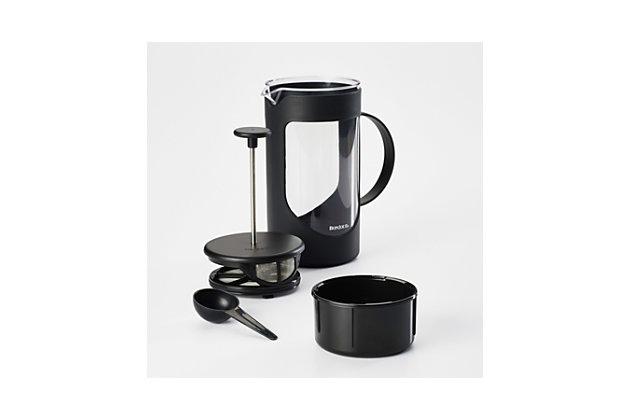 Bonjour 8-Cup Method French Press w/Lock & Toss Filter, Black, Black, large