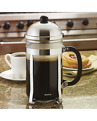 Bonjour Coffee 12-Cup Monet Stainless Steel French Press, , rollover