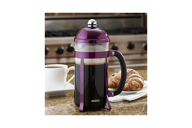 Bonjour Coffee 8-Cup Maximus French Press, Purple, Purple, large