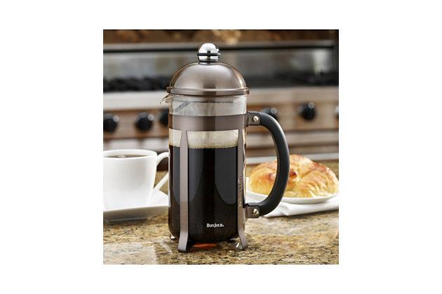Bonjour Coffee 8-Cup Maximus French Press, Truffel, Truffel, large