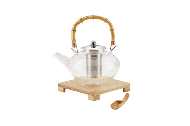 Bonjour Coffee Tea Makers 1 L/34 oz. Zen Teapot w/Coaster and Scoop, , large