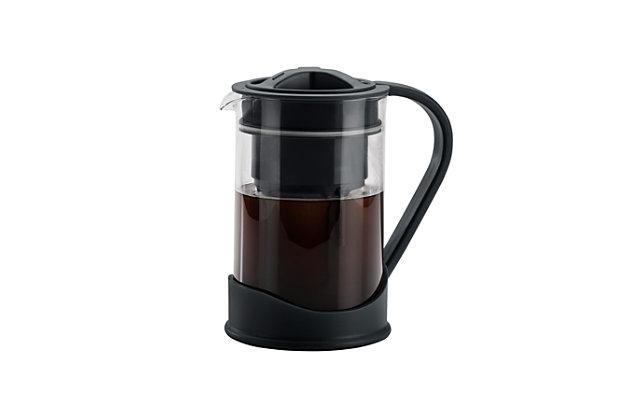Bonjour Coffee Tea Makers 50.7 oz. Cold Brew Coffee Maker, Black, Black, large