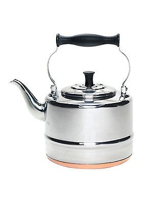 Bonjour Tea 2-Quart Polished Stainless Steel Teakettle w/Copper Bottom, , rollover