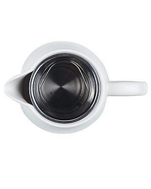 Bonjour Wayfarer Ceramic Collection 34-oz Ceramic Coffee Pot w/Stainless Steel Filter, Matte White, , large