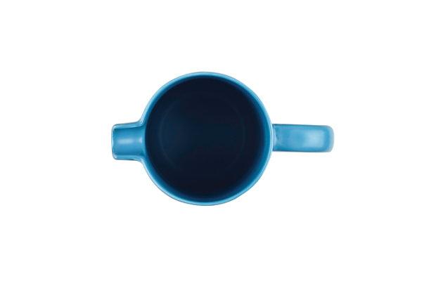 Bonjour Wayfarer Ceramic Collection 8-Cup (32 oz) Ceramic French Press, Aqua, Aqua, large