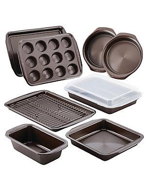 Circulon Bakeware 10-Piece Set, Chocolate, Chocolate, rollover