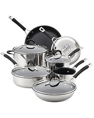 Circulon Momentum Stainless Steel 11-Piece Cookware Set, , rollover