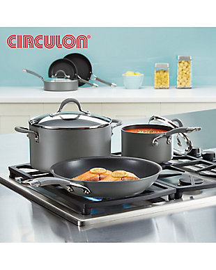 "Circulon Radiance Triple Pack: 8.5"", 10"" & 12.25"" Open Frying Pans, , large"
