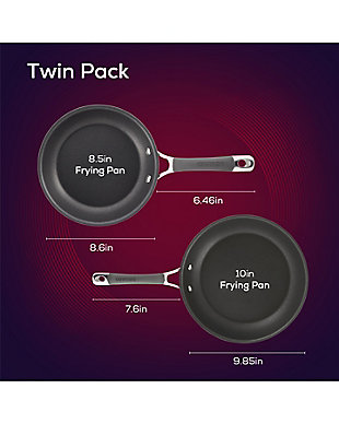"""Circulon Radiance Twin Pack: 8.5"""" & 10"""" Open Frying Pans, , rollover"""
