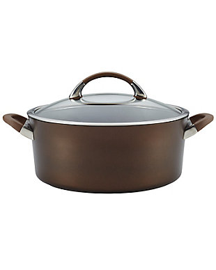 Circulon Symmetry Chocolate Hard Anodized Nonstick 7 Qt. Covered Dutch Oven, , large