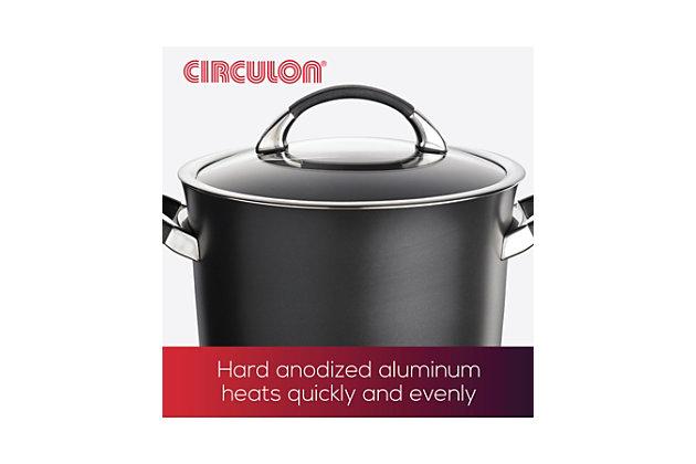 Circulon Symmetry Hard Anodized Nonstick 11-Piece Cookware Set, Gray, large