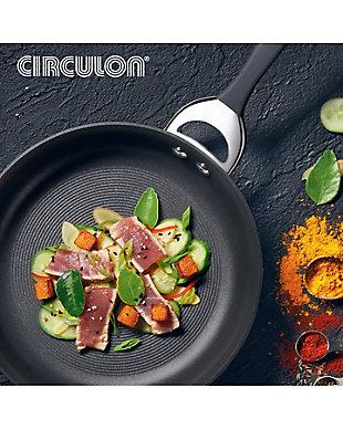 Circulon Symmetry Hard Anodized Nonstick 8.5-Inch Open Frying Pan, Gray, rollover