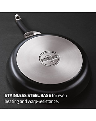 """Circulon Symmetry Hard Anodized Nonstick Twin Pack: 10"""" & 12"""" Open Frying Pans, Gray, large"""