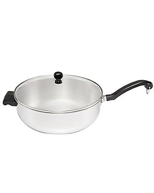 Farberware Classic II Stainless Steel 6 Qt. Jumbo Covered Chef Pan w/HH, , large