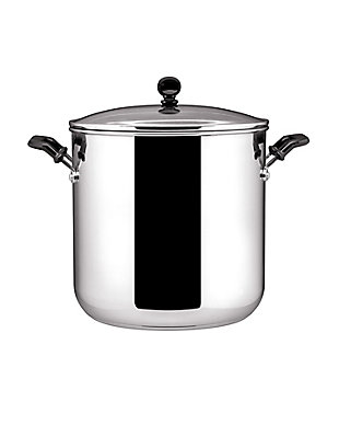 Farberware Classic Stainless Steel 11-Quart Covered Stockpot with Glass Lid, , large