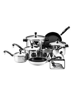 Farberware Classic Stainless Steel 15-Piece Cookware Set, , large