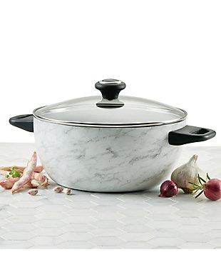 Farberware Designs, White Marble 5.5 Qt. Covered Casserole, , rollover