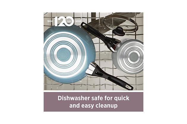 Farberware Dishwasher Safe Aluminum Nonstick 6-Quart Covered Jumbo Cooker w/HH, Aqua, , large