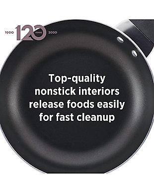 "Farberware Dishwasher Safe Aluminum Nonstick Twin Pack: 8"" & 10"" Open Shallow Skillets, Copper, , rollover"