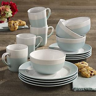 American Atelier Serene Aqua 16 Pc Dinnerware Set, , rollover