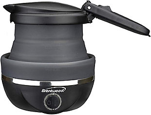 Brentwood Dual Voltage Travel Kettle, Black, rollover