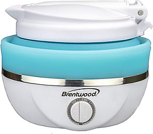 Brentwood Dual Voltage Travel Kettle, Blue/White, large