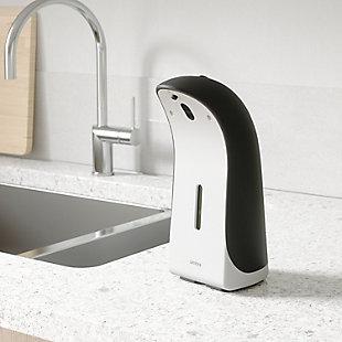 UMBRA Emperor Auto Soap Dispenser 12oz, Black/Gray, rollover