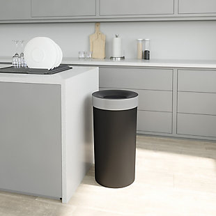 UMBRA Vento Can 16.5 Gallon, Black/Gray, rollover