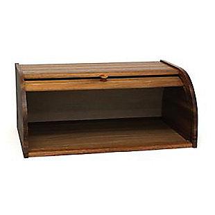Lipper Acacia Rolltop Bread Box, , rollover