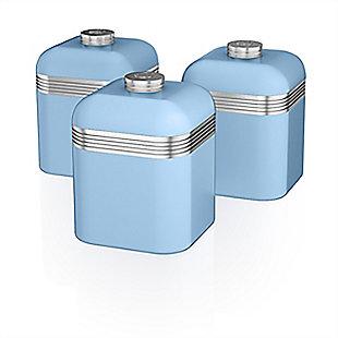 Salton Retro Cannisters Set, Blue, rollover
