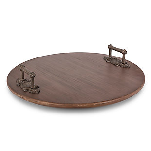The Gerson Company Gg Collection Acanthus Wooden Lazy Susan, , large