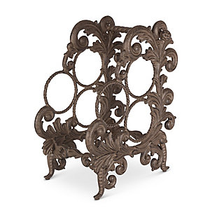 The Gerson Company Gg Collection Acanthus Three Bottle Wine Rack, , large