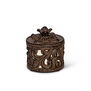 The Gerson Company Gg Collection Leaf Acanthus Jewelry Jar or Salt Box, , large