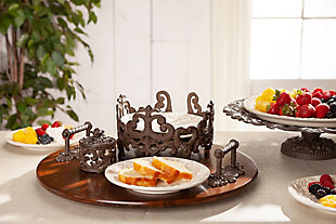 The Gerson Company Gg Collection Acanthus 8-Inch Diameter Salad Plate Holder, , rollover