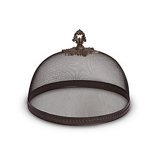 The Gerson Company Large 14-Inch Diameter Hammered Metal Meshed Dome, , large
