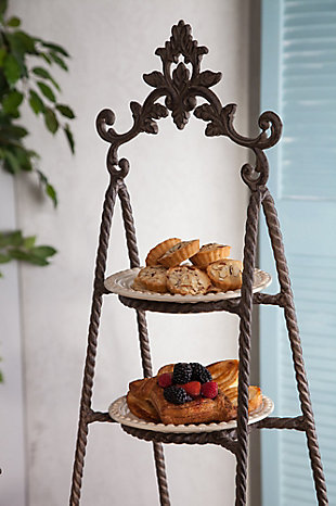 The Gerson Company Metal Acanthus 3-Tier Server, , rollover