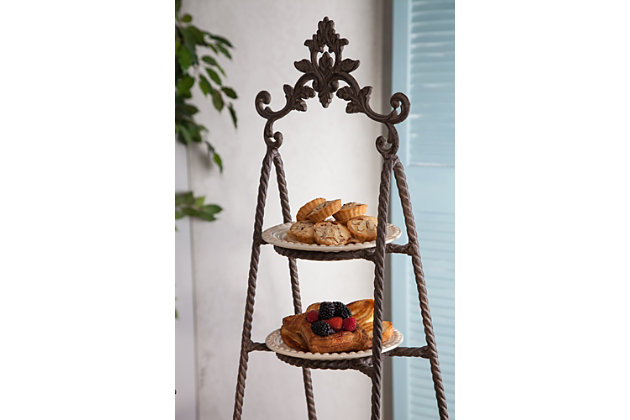 The Gerson Company Metal Acanthus 3-Tier Server, , large