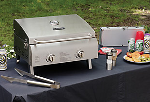 Cuisinart - Grilling Chef's Style Tabletop Gas Grill in Stainless Steel, , large