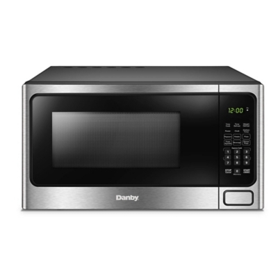 Danby 1.1-Cu. Ft. 1000W Microwave Oven with Stainless Steel Front, , large