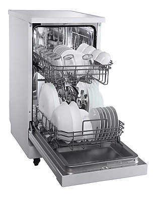 """Danby Energy Star 18"""" Portable Dishwasher with 4 Wash Programs in White, , rollover"""