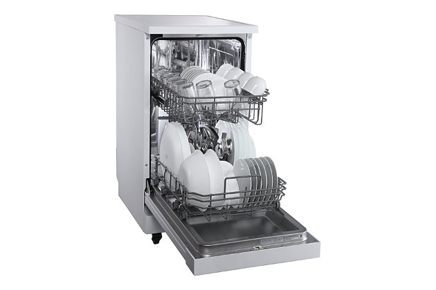 """Danby Energy Star 18"""" Portable Dishwasher with 4 Wash Programs in White, , large"""