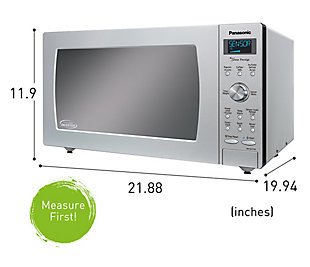Panasonic 1.6-Cu. Ft. 1250W Built-In / Countertop Cyclonic Wave Microwave Oven with Inverter Technology in Sta, , rollover