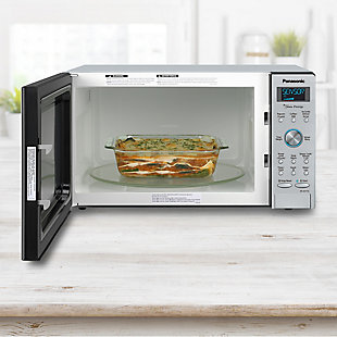 Panasonic 1.6-Cu. Ft. 1250W Built-In / Countertop Cyclonic Wave Microwave Oven with Inverter Technology in Sta, , large