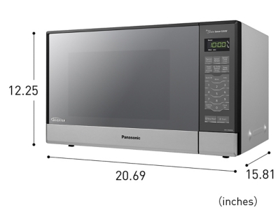 Panasonic 1.2 Cu. Ft. 1200W Genius Sensor Countertop/Built-In Microwave Oven with Inverter Technology, , large